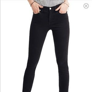 """Madewell High Rise Skinny 9"""" Size 28 Black jeans"""